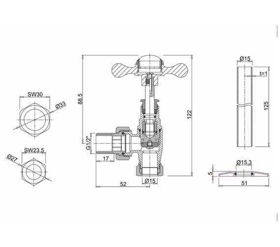 Technical drawing QS-V13474 / R6CHR