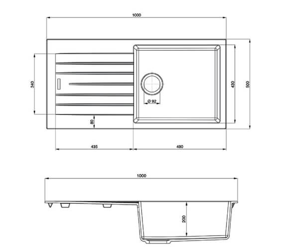 Technical drawing QS-V89136 / AND1051AS/