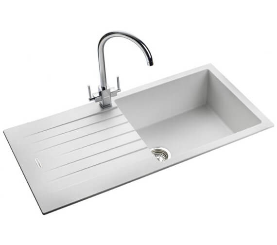 Additional image of Rangemaster Andesite 1000 x 500mm Igneous Granite Ash 1.0 Bowl Inset Sink