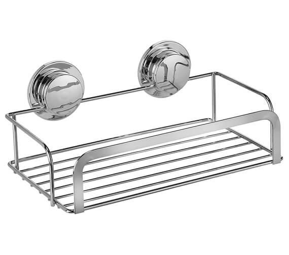 Croydex Stick N Lock Chrome Cosmetic Basket
