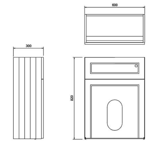 Technical drawing QS-V83782 / W60W