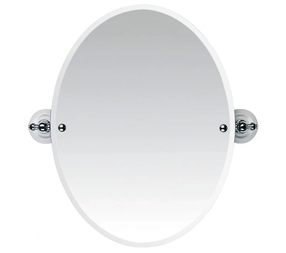 Imperial Cambridge Or Oxford Tilting Oval Bevelled Mirror 572 x 600mm