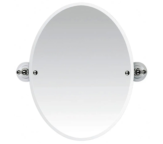 Additional image of Imperial Cambridge Or Oxford Tilting Oval Bevelled Mirror 572 x 600mm