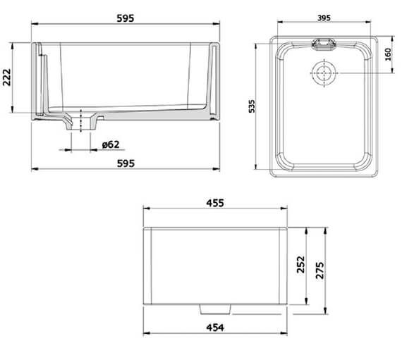 Technical drawing QS-V89148 / CFBL595WH/