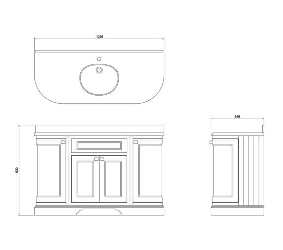 Technical drawing QS-V83754 / FC1W