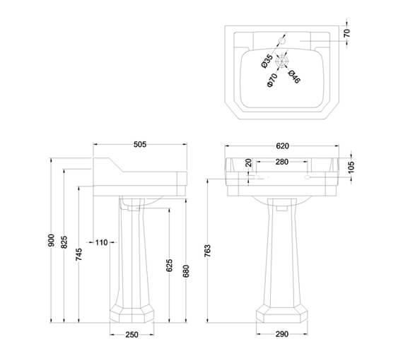 Technical drawing QS-V105894 / B51THBLOSS
