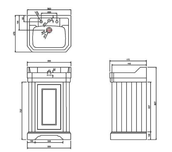 Technical drawing QS-V105975 / FC12W
