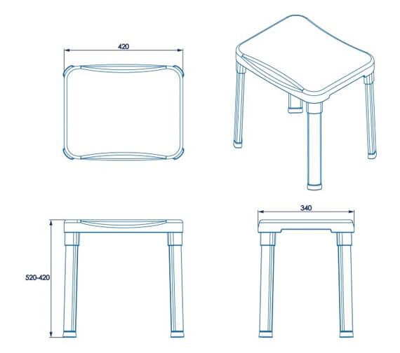 Technical drawing QS-V8825 / AP130222