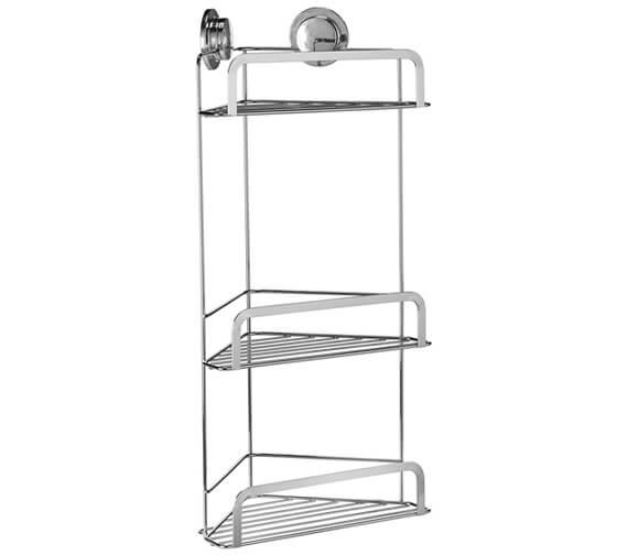 Alternate image of Croydex Chrome Stick N Lock 260mm Corner Shower Basket