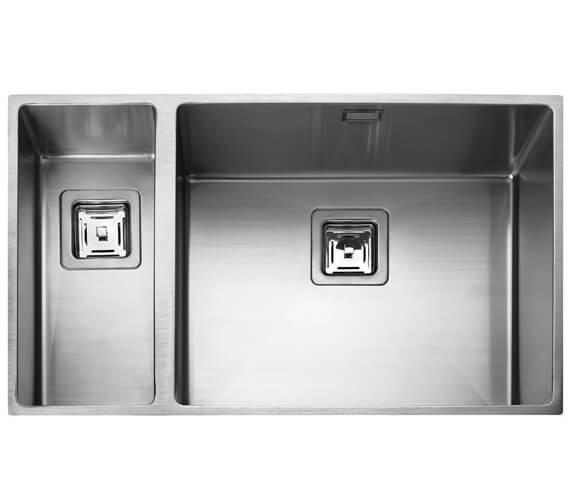 Rangemaster Atlantic Kube 740 x 430mm Stainless Steel 1.5B Undermount Sink