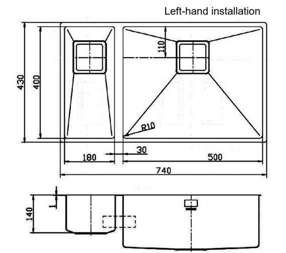 Technical drawing QS-V18920 / KUB5018L/