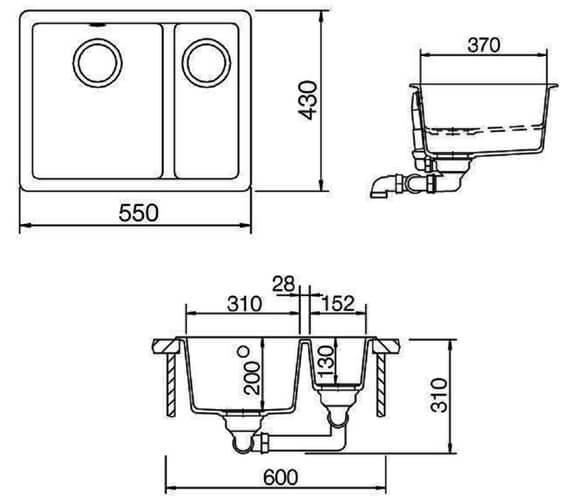 Technical drawing QS-V18865 / PAR3115AS/