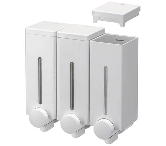 Additional image of Croydex Slimline Wall Mounted Soap Dispenser
