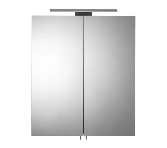 Croydex Hang N Lock Sudbury 600mm Double Door Illuminated Mirror Cabinet