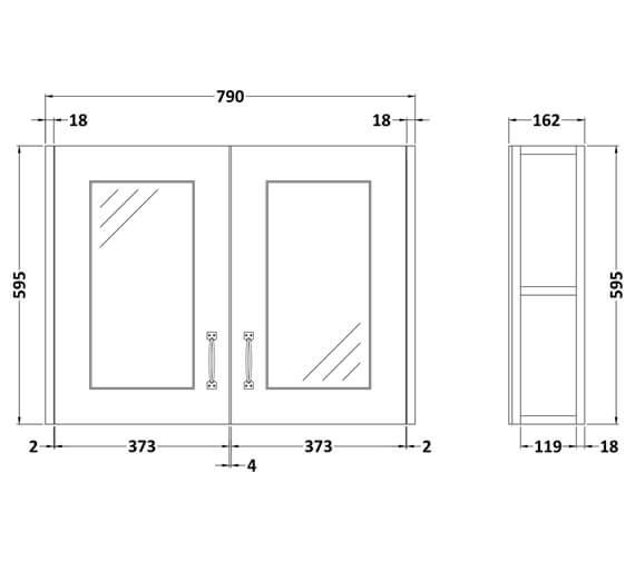 Technical drawing QS-V80344 / OLF115
