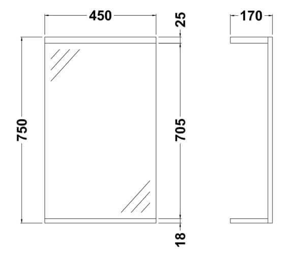 Technical drawing QS-V45065 / PRC111