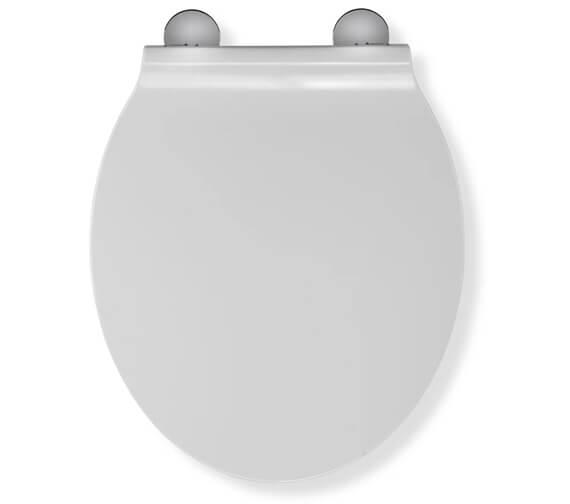 Croydex Victoria Flexi-Fix White Standard Toilet Seat
