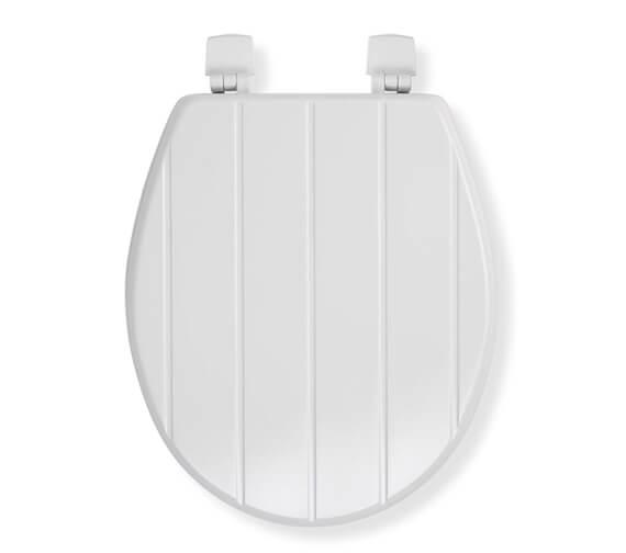 Croydex Windermere Sit Tight White Toilet Seat