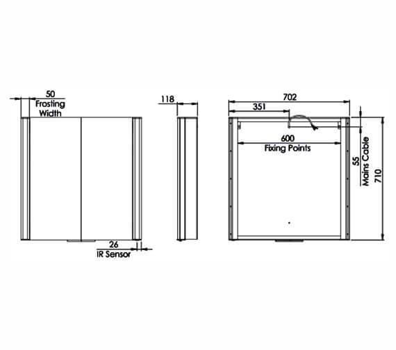 Technical drawing QS-V98656 / VEC070