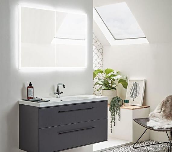Alternate image of Roper Rhodes Vertex Illuminated Double Door Mirror Cabinet