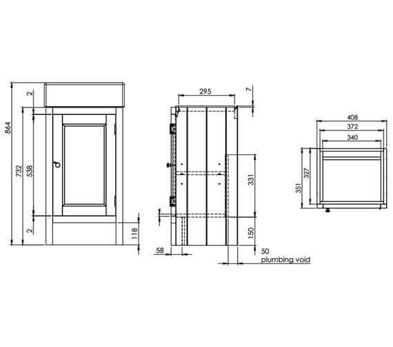 Technical drawing QS-V6776 / HAM450B.W