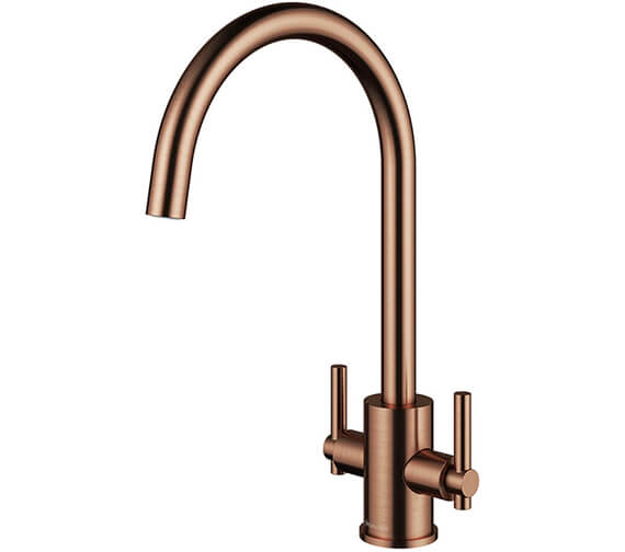Alternate image of Clearwater Rococo C Twin Lever Monobloc Kitchen Sink Mixer Tap