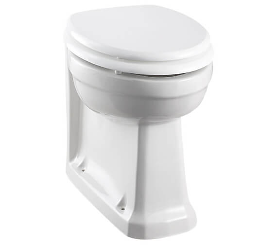 Burlington 480mm Rimless Back To Wall WC Pan With Soft Close Seat