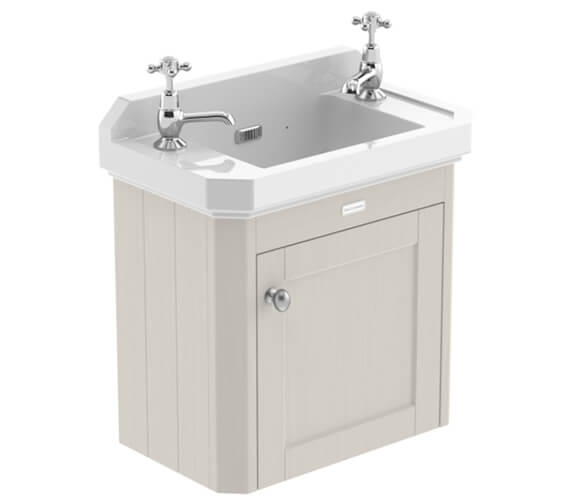 Additional image of Hudson Reed Old London Wall Hung Cabinet And 2 Tap Hole Basin