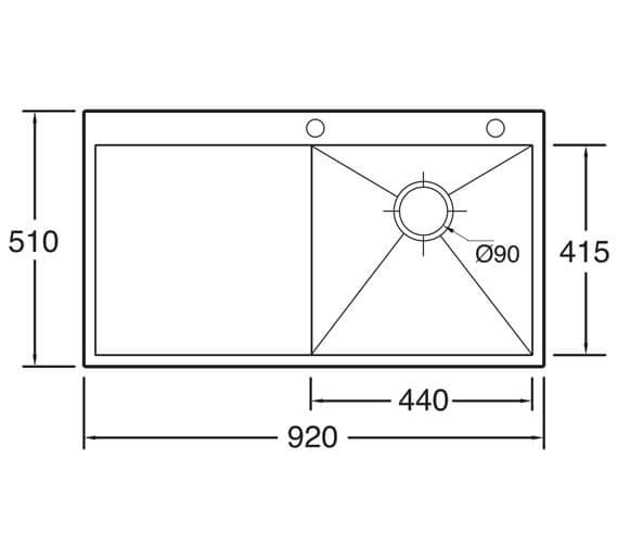 Technical drawing QS-V104647 / ZE100L