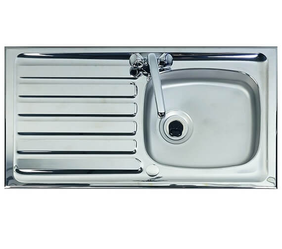 Clearwater Contract Shallow Bowl 950 x 508mm Reversible Kitchen Sink