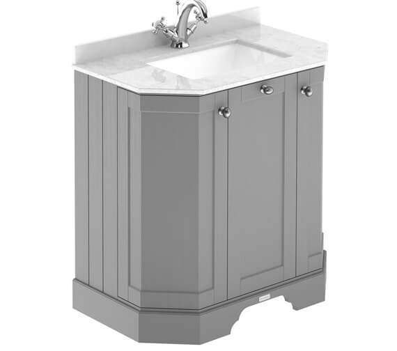 Hudson Reed Old London Angled 3 Door Unit And Marble Top Basin