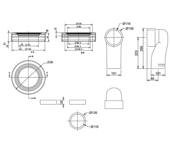 Technical drawing QS-V105990 / C26