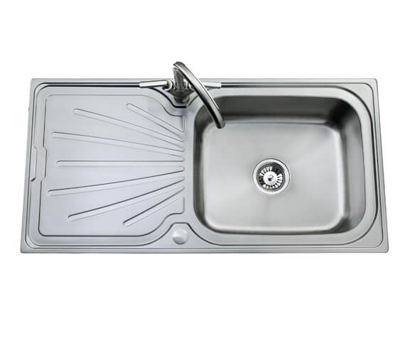 Clearwater Deep Blue 1000 x 500mm Large Bowl Kitchen Sink And Drainer