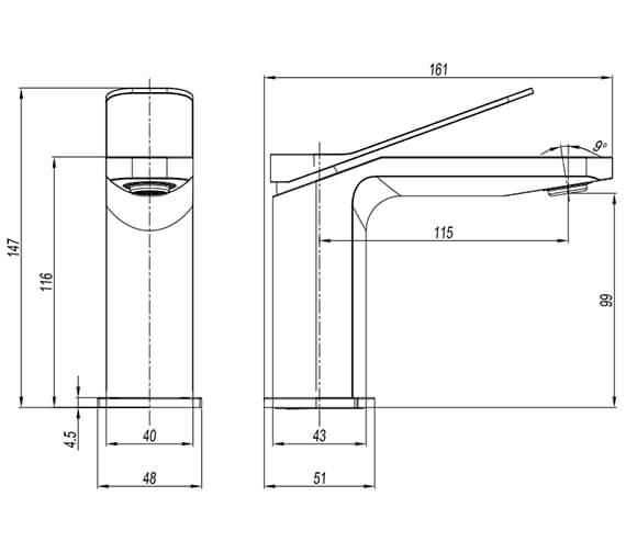 Technical drawing QS-V102646 / GD110DNC