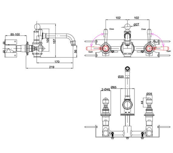 Technical drawing QS-V105984 / ARC2019CHR