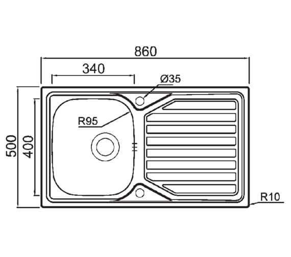 Technical drawing QS-V88849 / 7507123