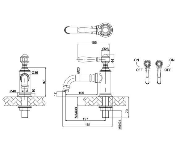 Technical drawing QS-V105985 / ARC2017CHR