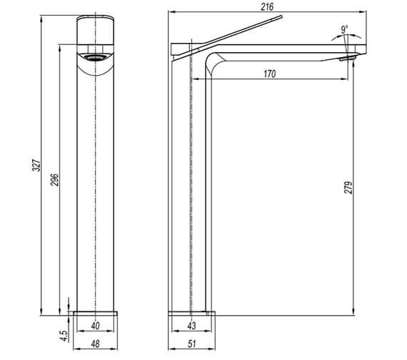 Technical drawing QS-V102647 / GD112DNC