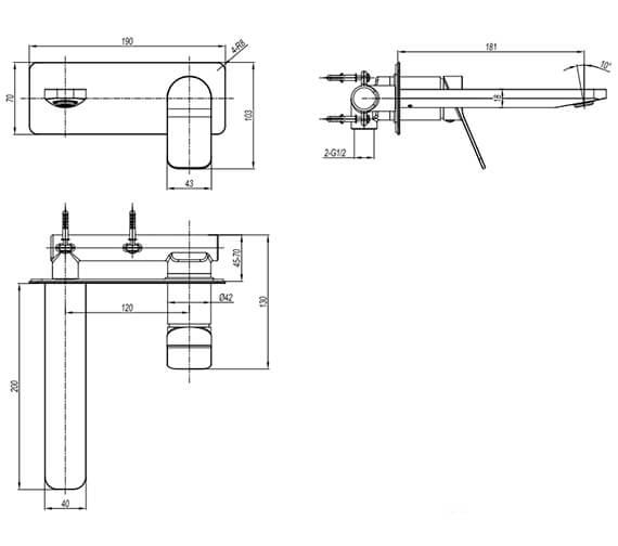 Technical drawing QS-V102648 / GD121WNC