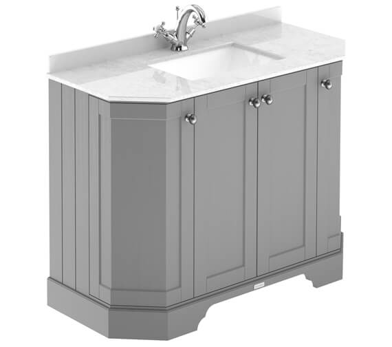 Hudson Reed Old London Angled 4 Door Unit And Marble Top Basin