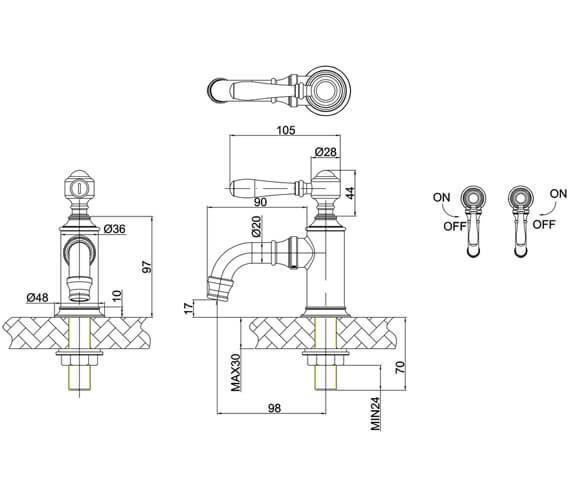 Technical drawing QS-V105986 / ARC2036CHR