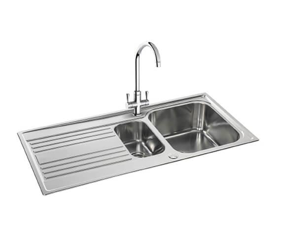 Carron Phoenix Rapid 150 Stainless Steel 1.5 Bowl 1000 x 500mm Kitchen Sink