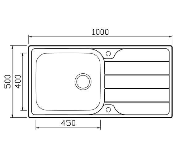Technical drawing QS-V104658 / PU100
