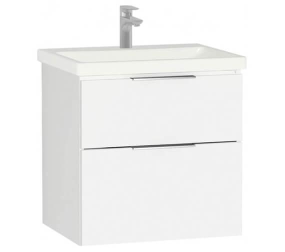 VitrA Ecora 2 Drawer Wall Hung Vanity Unit With Basin