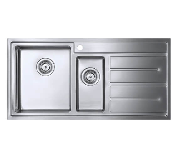 1810 Company Forza Duo 150i 1000 x 500mm 1.5 Bowl Kitchen Sink