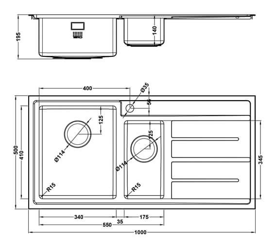 Technical drawing QS-V101458 / FD/150/I/S/BBL/405
