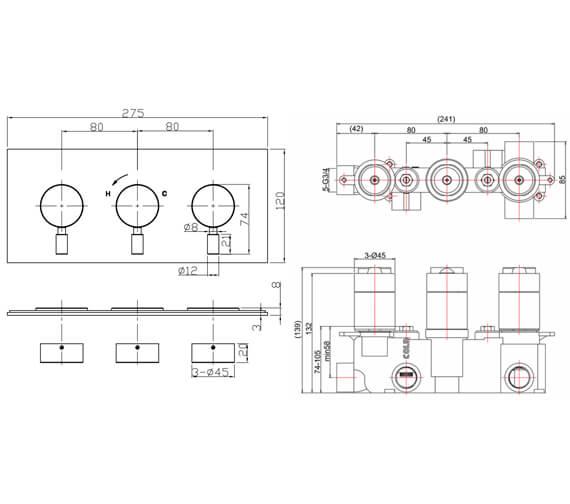 Technical drawing QS-V104665 / DE1000LBPC