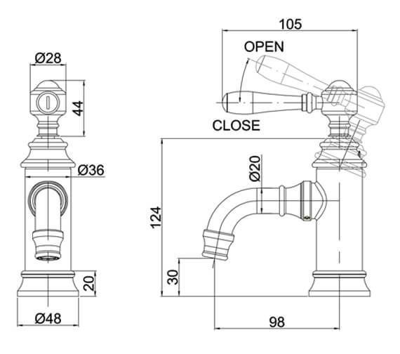 Technical drawing QS-V105987 / ARC2035CHR