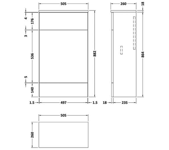 Technical drawing QS-V90136 / CBI104A