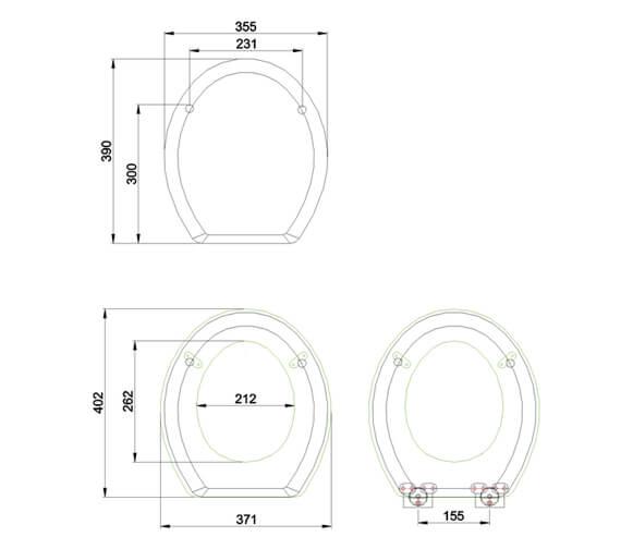 Technical drawing QS-V106701 / S56CHR